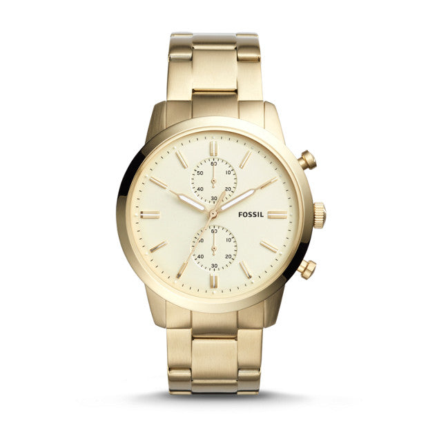 Fossil Townsman 44MM Chronograph Gold-Tone Stainless Steel Watch (FS5348)