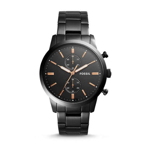 Fossil Townsman 44MM Chronograph Black Stainless Steel Watch (FS5379)