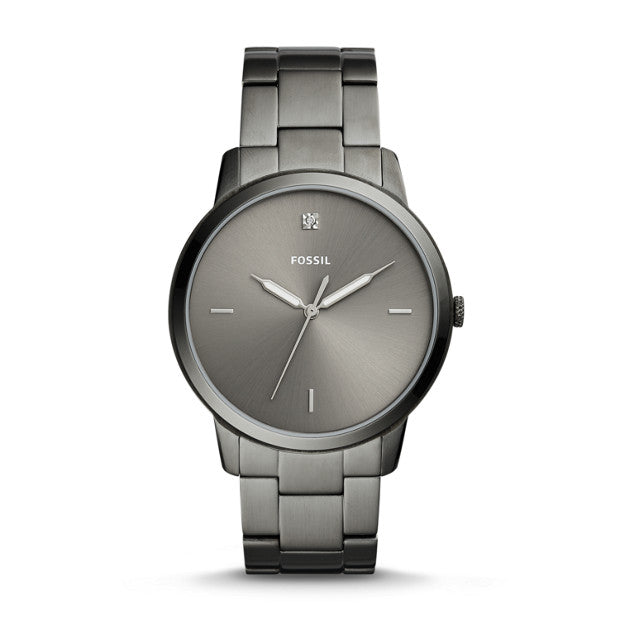 Fossil The Minimalist Carbon Series Three-Hand Smoke Stainless Steel Watch (FS5456)