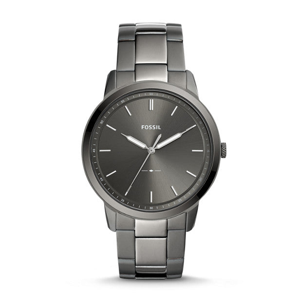Fossil The Minimalist Three-Hand Smoke Stainless Steel Watch (FS5459)