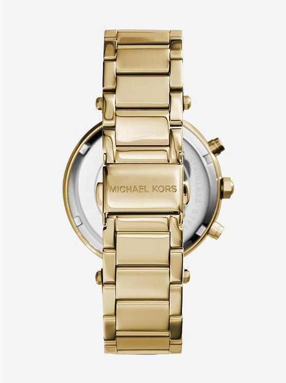 Michael Kors Parker Chronograph Champagne Dial Ladies Watch (MK5354)