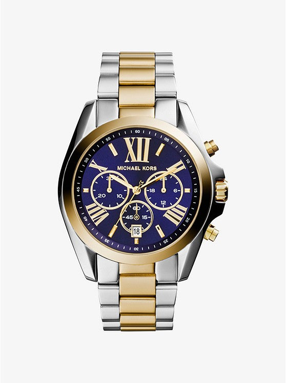 Michael Kors Bradshaw Chronograph Blue Dial Two-tone Ladies Watch (MK5976)
