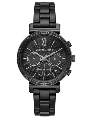 Michael Kors Women's Sofie Chronograph Black Stainless Steel Watch (MK6632)