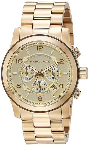 Michael Kors Men's Gold-Tone Runway Oversized Watch (MK8077)