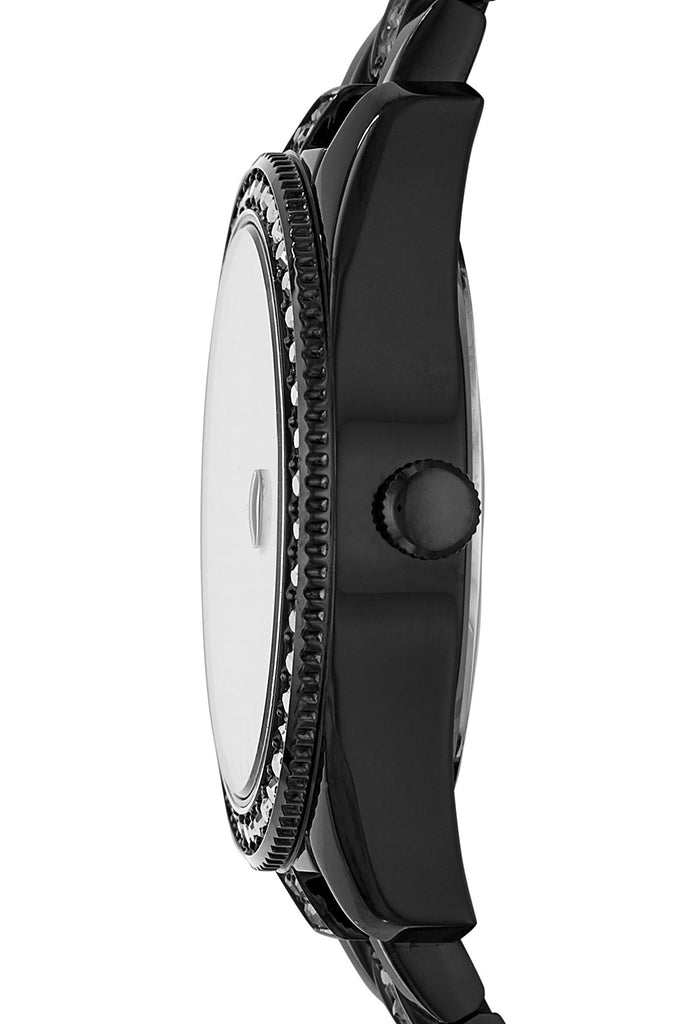 Fossil Scarlette Mini Three-Hand Date Black Stainless Steel Watch (FS4508)