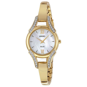 Seiko Women's Swarovski Crystal-Accented Stainless Steel Bangle Watch (SUP2160)