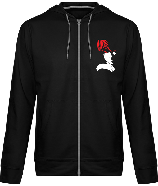 VESTE À CAPUCHE DEATH NOTE LIGHT YAGAMI (ROUGE/ BLANC) - mangas-shop.com