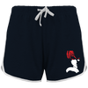 SHORT DE SPORT FEMME DEATH NOTE LIGHT YAGAMI (ROUGE/ BLANC) - mangas-shop.com
