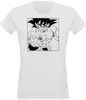 T-SHIRT FEMME DRAGON BALL Z SONGOKU COMBAT - mangas-shop.com