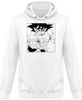 SWEAT À CAPUCHE DRAGON BALL Z SONGOKU COMBAT - mangas-shop.com