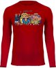 T-SHIRT DE COMPRESSION ONE PIECE 9 FOURREAUX ROUGES