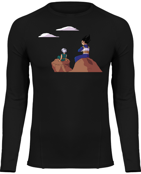 T-SHIRT DE COMPRESSION DRAGON BALL Z VÉGÉTA & TRUNKS