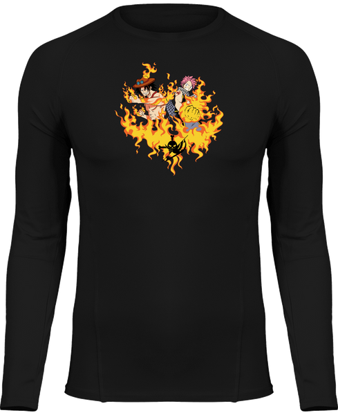 T-SHIRT DE COMPRESSION ONE PIECE X FAIRY TAIL ACE & NATSU