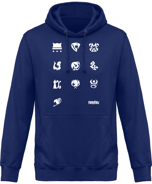 SWEAT À CAPUCHE FAIRY TAIL LOGOS GUILDES