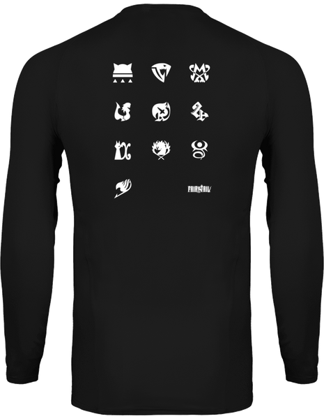 T-SHIRT DE COMPRESSION FAIRY TAIL LOGOS GUILDES