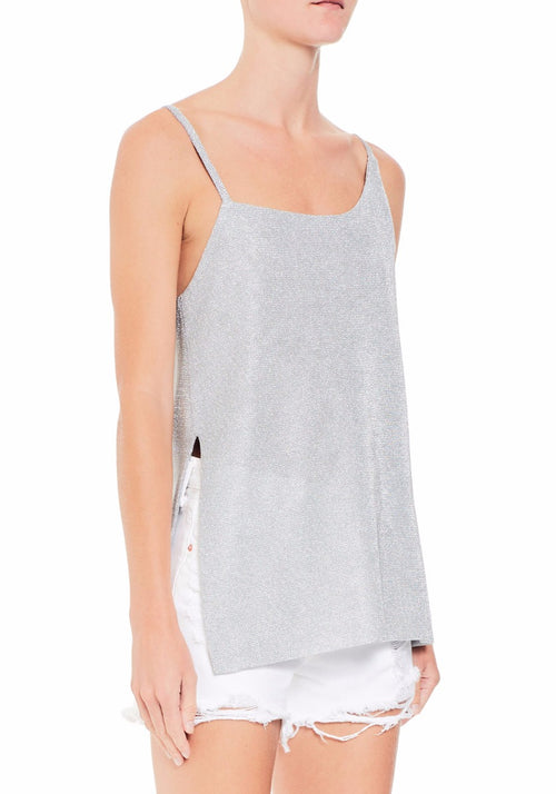 Asymmetrical Metallic Cami