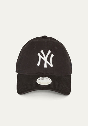 NYC CAP BLACK W WHITE LOGO