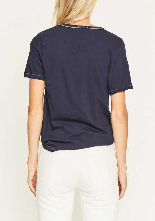 Fitted V Neck T-Shirt