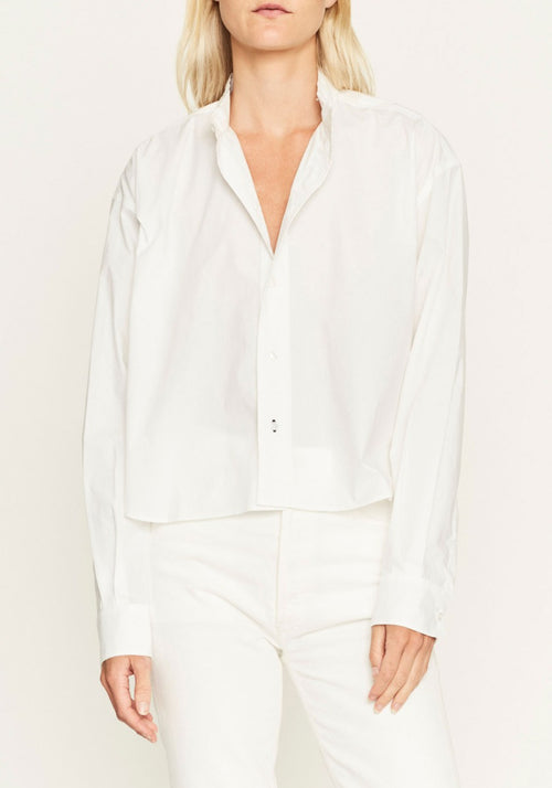 Cotton Raw Cropped Shirt
