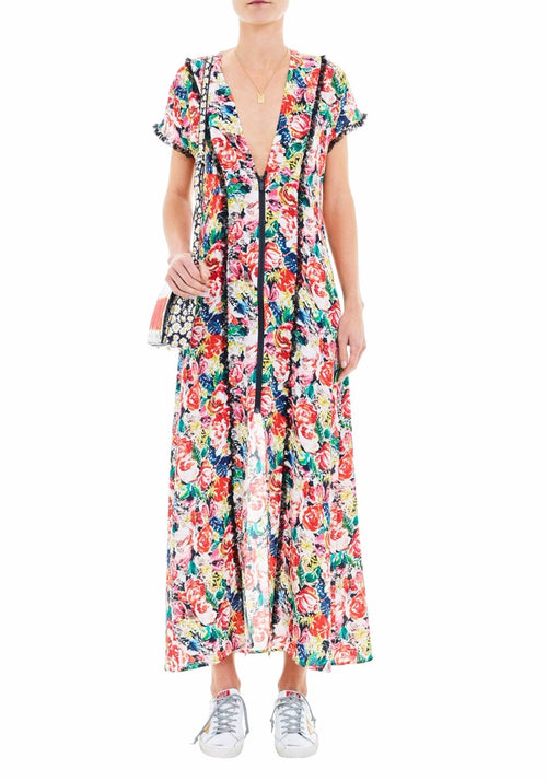 Maple Silk Maxi Dress