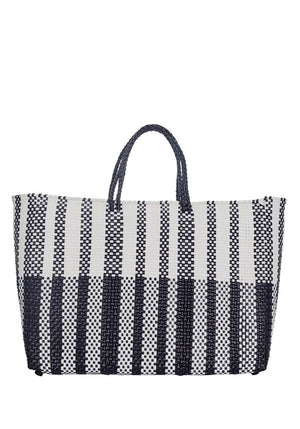 Large Black And White Tote
