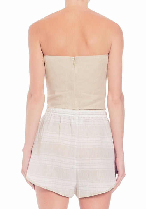 Rylee Strapless Top With Tie