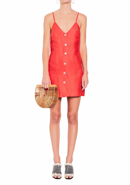 Linen Button-Up Dress