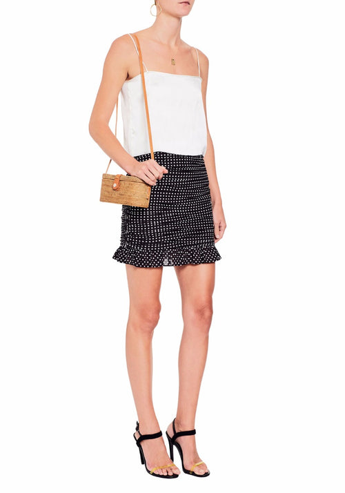 Cotton Ruched Skirt