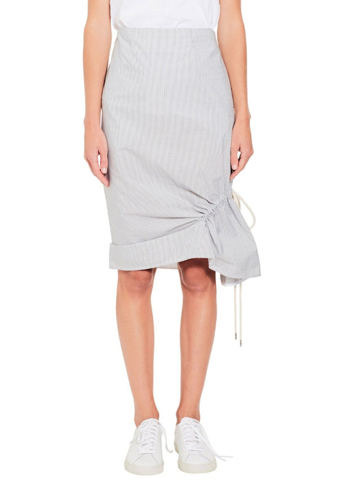 Stripe Ruched Detail Skirt