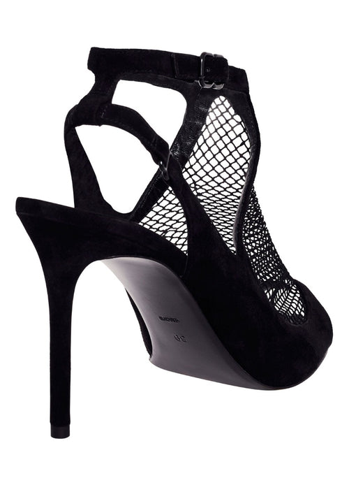 Piper Suede Fishnet Sandal