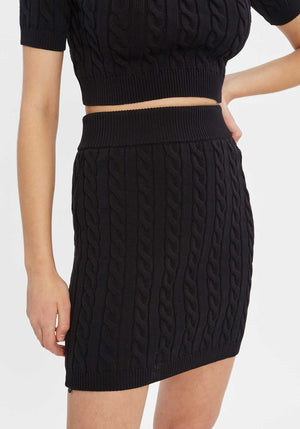 Cable Mini Skirt