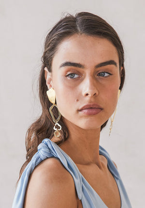 Ziba Dangle Earring Gold