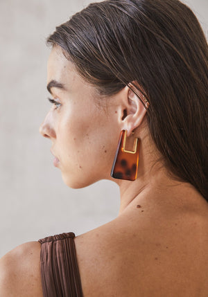Melina Earrings Tortoise