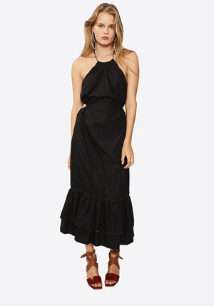 Eden Halter Neck Maxi Dress Black