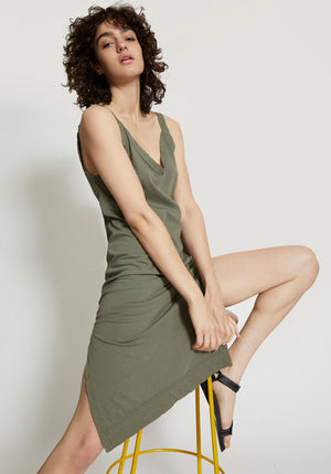 V- Neck camisole Dress Imperial-Army