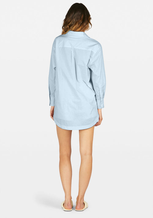 Solly Shirt Dress Ice Blue
