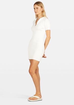 Mini Lipa Dress White