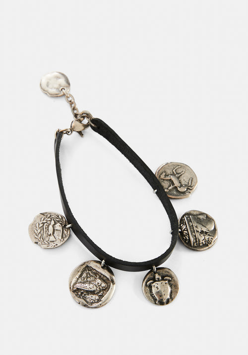 Leather & Coin Anklet
