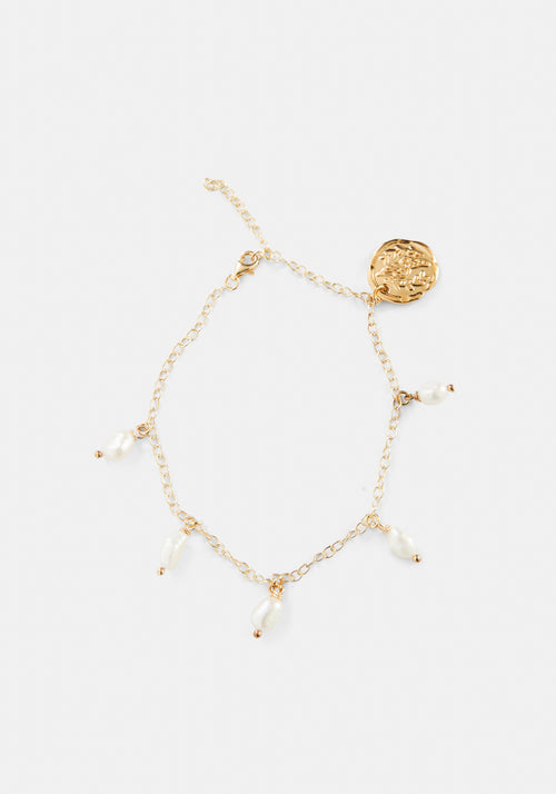Fine Chain Pearls Anklet
