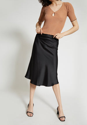 Milena Slip Skirt Black
