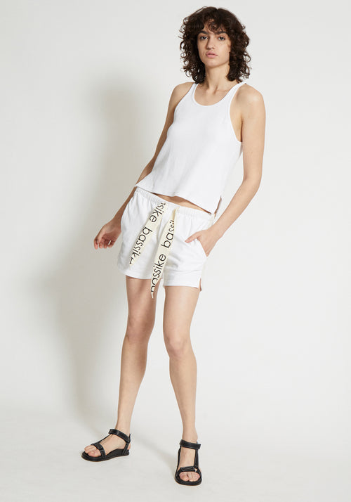 Double Jersey Beach Short White