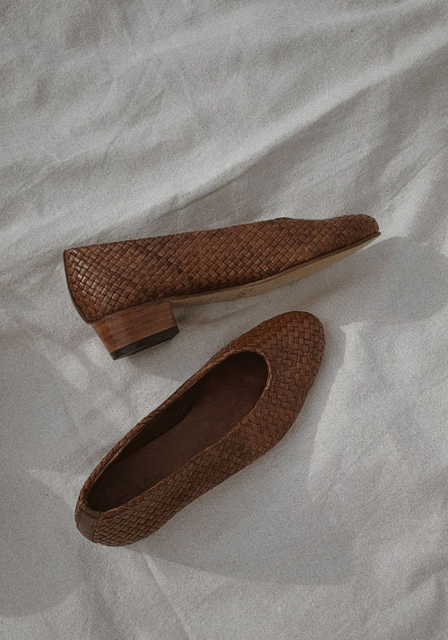 CISCO WOVEN HEEL - ANTIQUE TAN