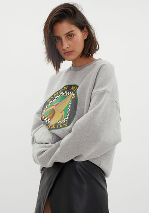 Rista Oversized Sweat Heather Grey