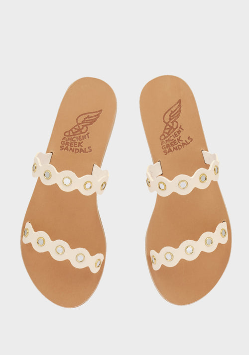 Melia Mirrors Sandals Off White