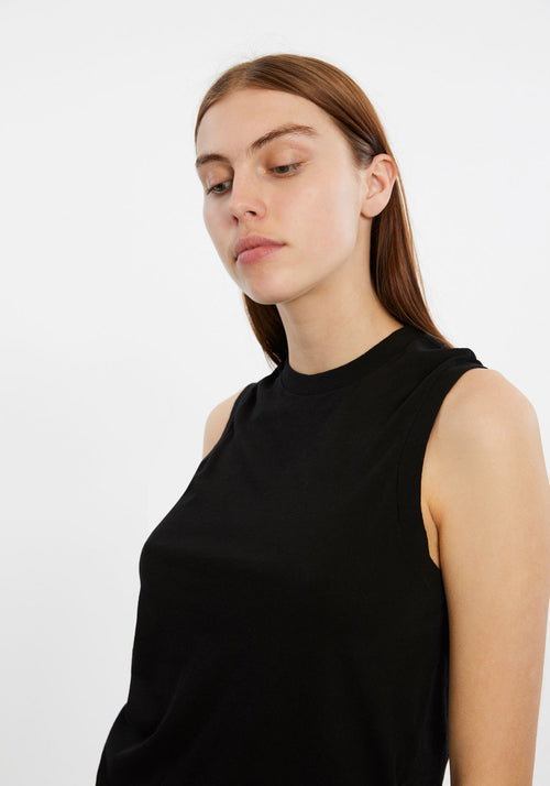 70S LONG MUSCLE TANK BLACK
