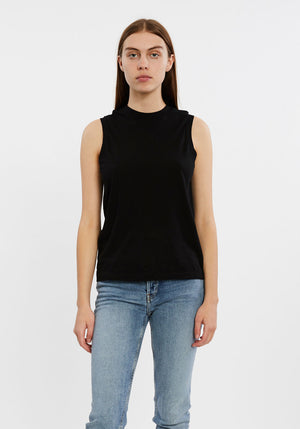 70's  Long Muscle Tank Black