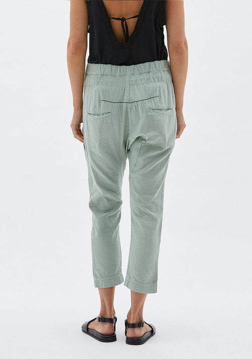 Heringbone Utility Relaxed Pant
