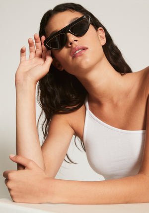 FFluo Cat-Eye Sunglasses Black