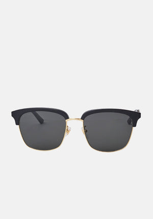 Square Frame Sunglasses Black/Gold