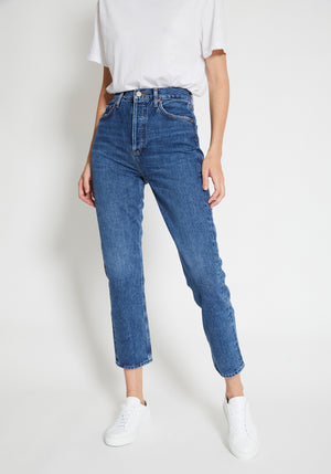 Riley Hi Rise Straight Crop Jean Air Blue
